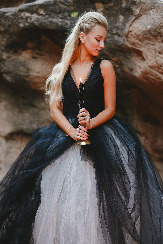 Bejeweledweddinginspirationwithablackandwhitegown70 Ruffled: Black Ruffled Wedding Dresses At Websimilar.org