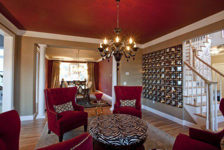 Dramatic Zebra Living Room Decoration Ideas  Rooms & Garden Delectable Red Living Room Designs Design Ideas