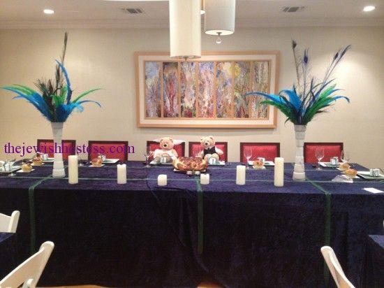 An Elegant Sheva Brachot Dinner Party For The Bride And Groom