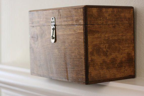 Beautiful Rustic Wood Wedding Card Box By Woodnleatherworker 70 00