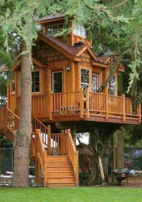 49) Одноклассники Troncos de madera Pinterest Cabañas - casas en arboles