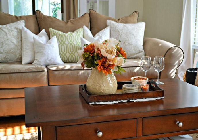 Fall Coffee Table Decor, How To Decorate A Small Square Coffee Table