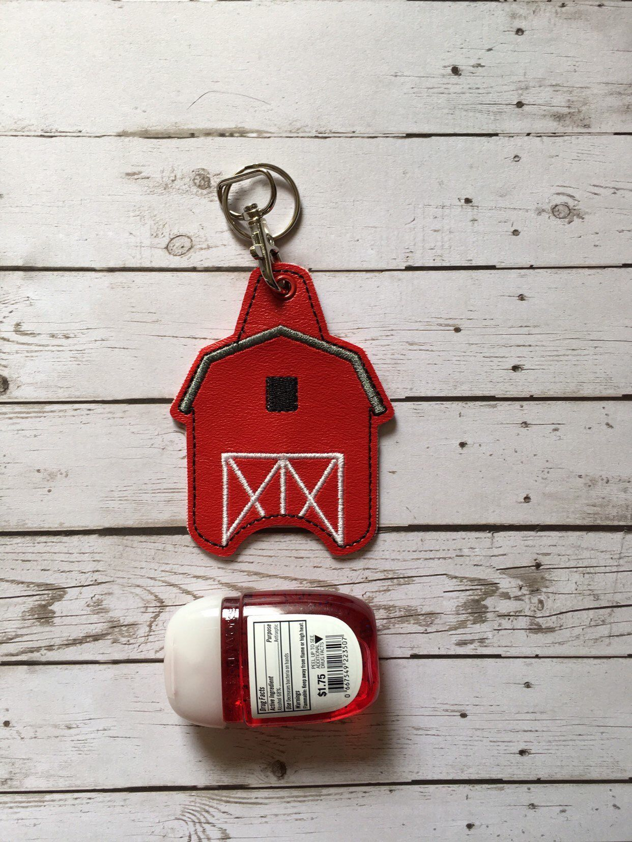 Barn Hand Sanitizer Holder Keychain Hand Sanitizer Key Fob 1