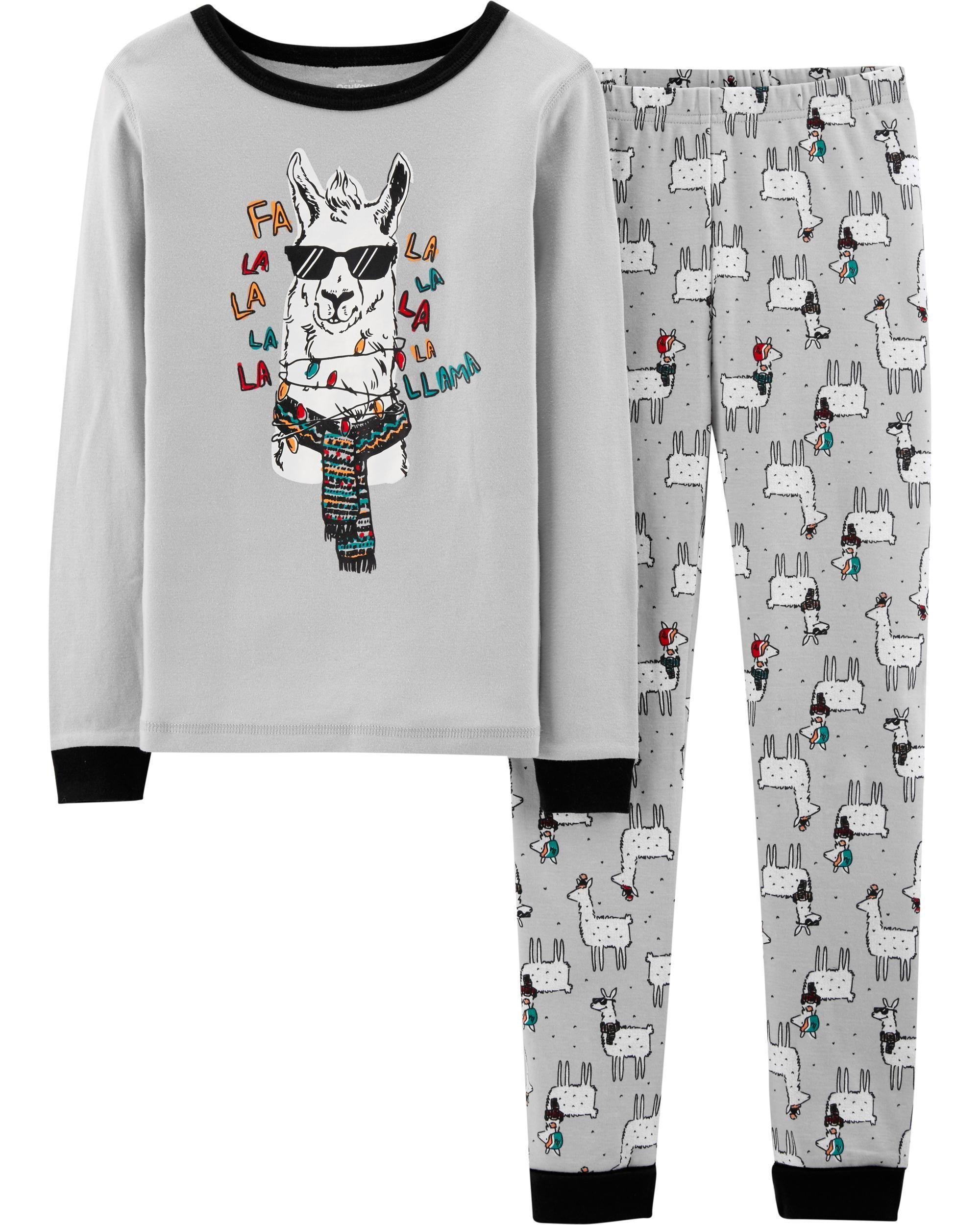 Llama Pajamas Pajamas for Kids Personalized Pajamas for Girl Llama Shirt