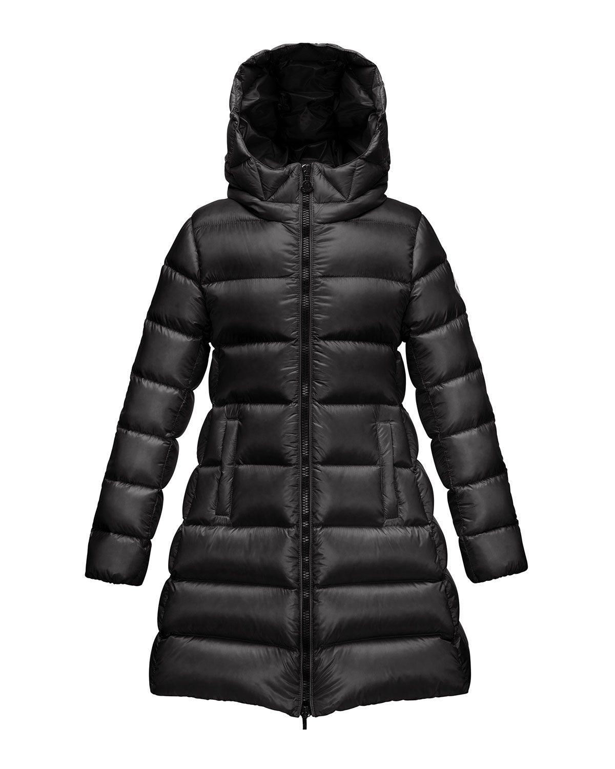 7710b4e9d Z1A4Z Burberry Long Puffer Coat with Fur-Trim, Black, 4Y-14Y | for ...