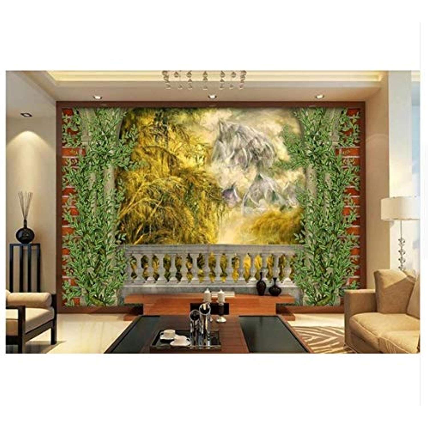 Ayzr Customize Wallpaper Oil Painting Landscape Wall Papers Home