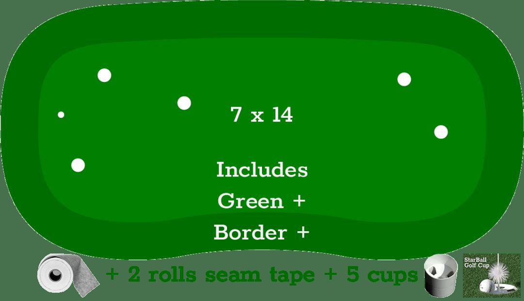 SP-7x14-Kit in 2020   Indoor putting green, Backyard ...