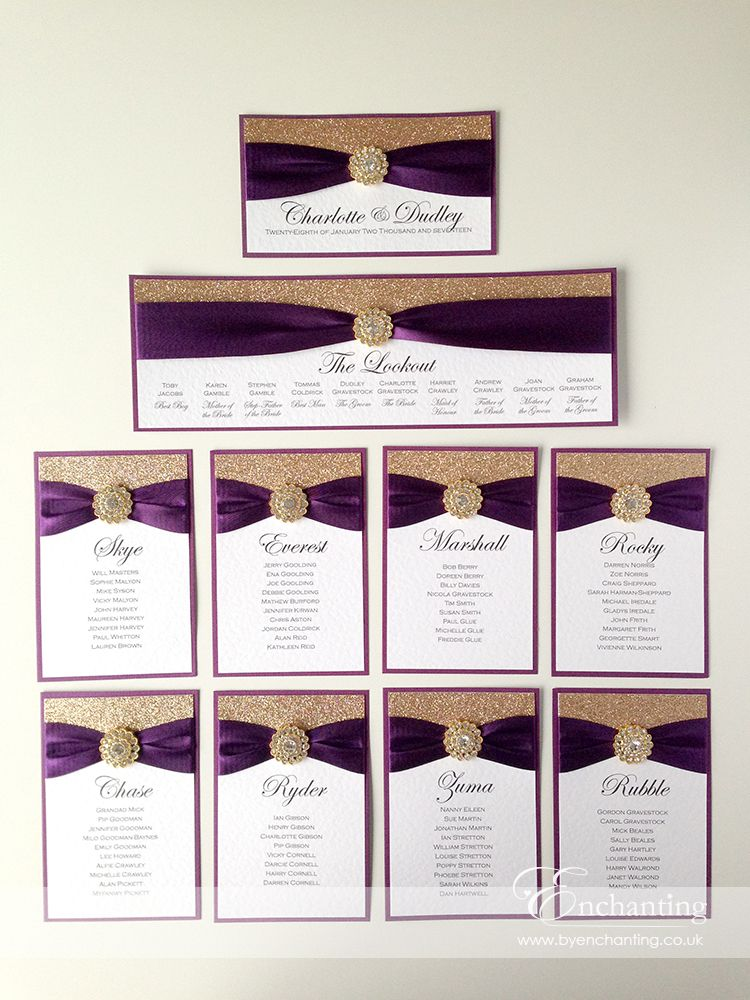 Purple Plum and Gold Wedding Stationery | The Cinderella Collection ...