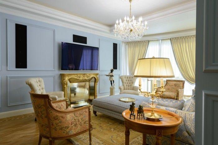 Wohnideen Wohnzimmer im klassischen Stil für eleganten Komfort und stilvolle Ruhe   Wohnzimmer ...
