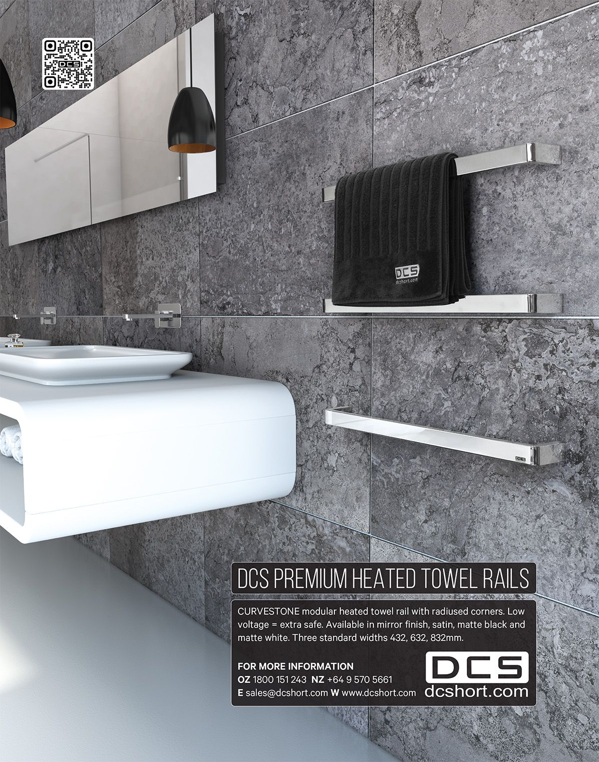 Kitchens & Bathrooms Quarterly - DCS Heated Towel Rails.