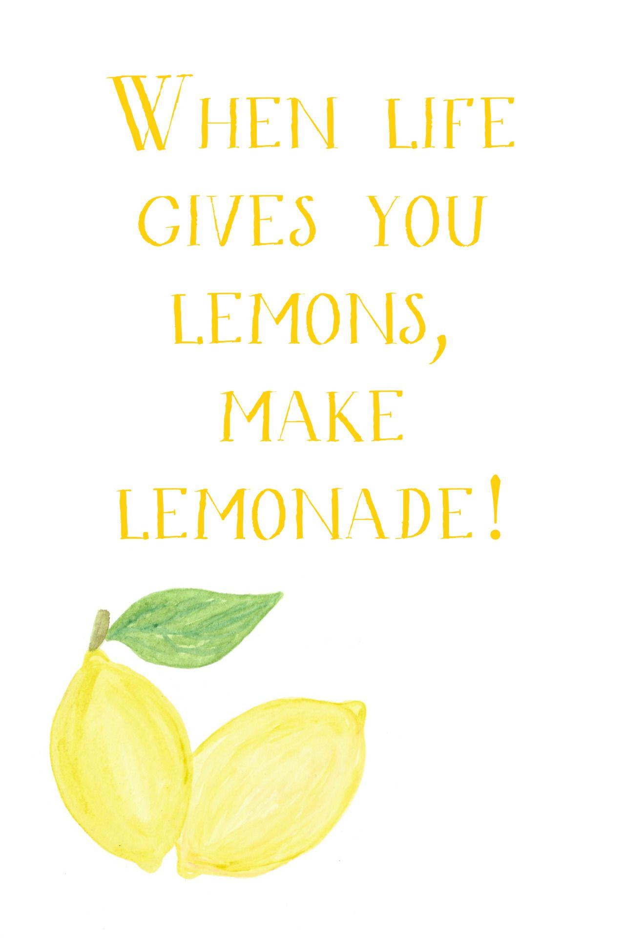 make lemonade :) its so good. ;D