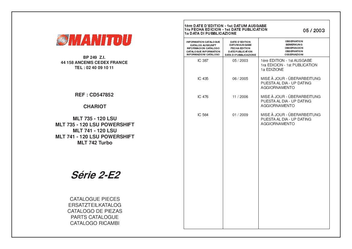Manitou Forklift Mlt741 120rev 1 09 Parts Manual Pdf Download Servicemanual Operatormanual Partsmanual In 2020 Forklift Pdf Download Repair Manuals