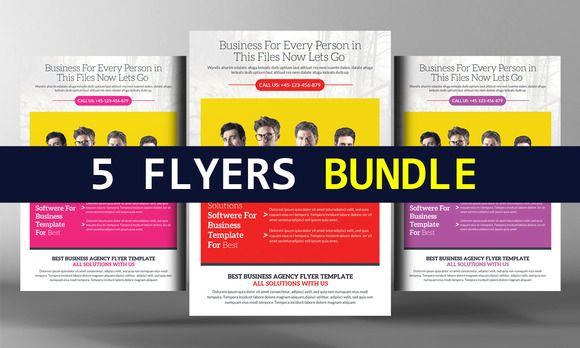 5 Social Media Flyers Bundle By Business Templates On Creative