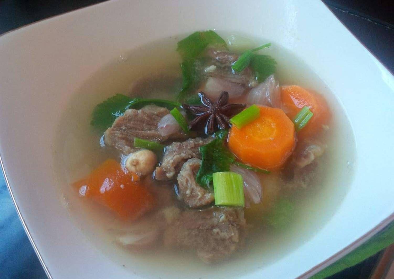 Resep Sop Daging Sapi Rempah Oleh Hanna Faristi Resep Daging Sapi Resep Sederhana Resep Masakan Indonesia