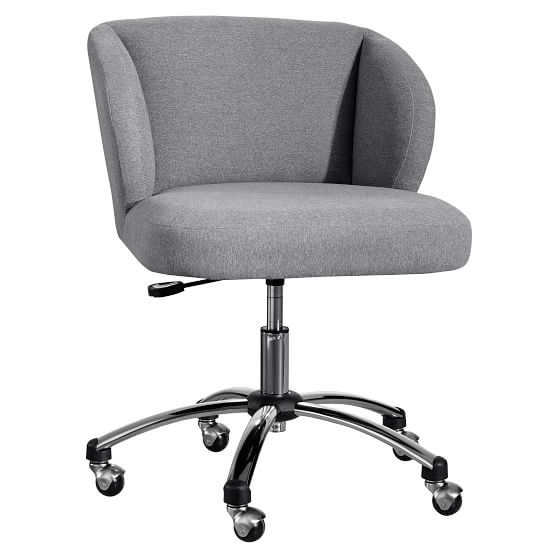 Highlands Gray Wingback Desk Chair Pb