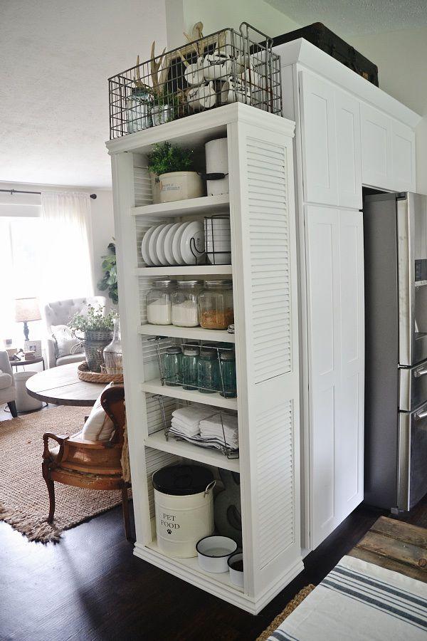 DIY BOOKSHELF  Made From All Closet Doors!!!! See How To Make