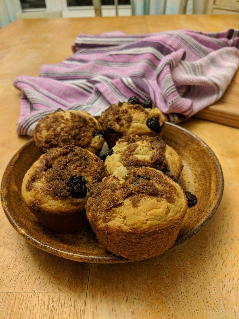 Gluten free blueberry rice flour muffins rice flour