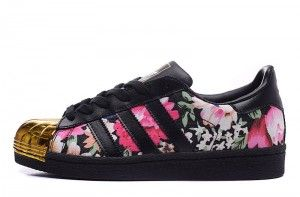 Adidas Superstar 80s Metal Toe Dames Limit zwart /bloemen ...