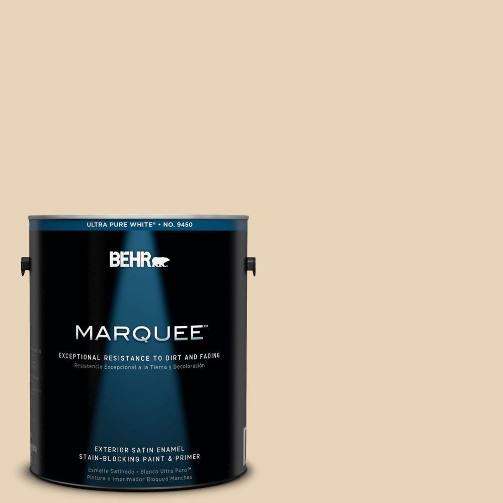 BEHR MARQUEE 1-gal. #PPU7-18 Sand Pearl Satin Enamel Exterior Paint