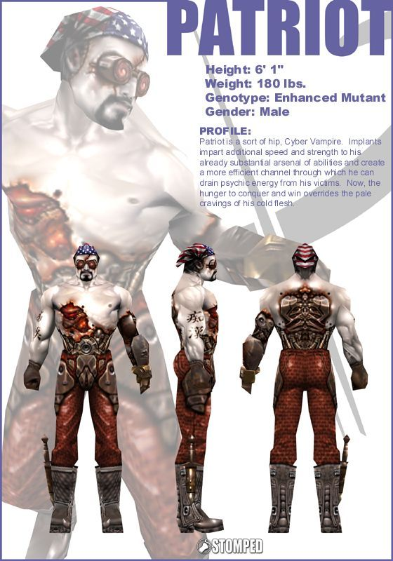 Quake 3 character sheet | Hand painted diffuse characters in