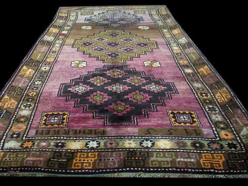 "Made in 1955 Handmade Turkish Kars Carpet Rug 10'x5'1"" | eBay"
