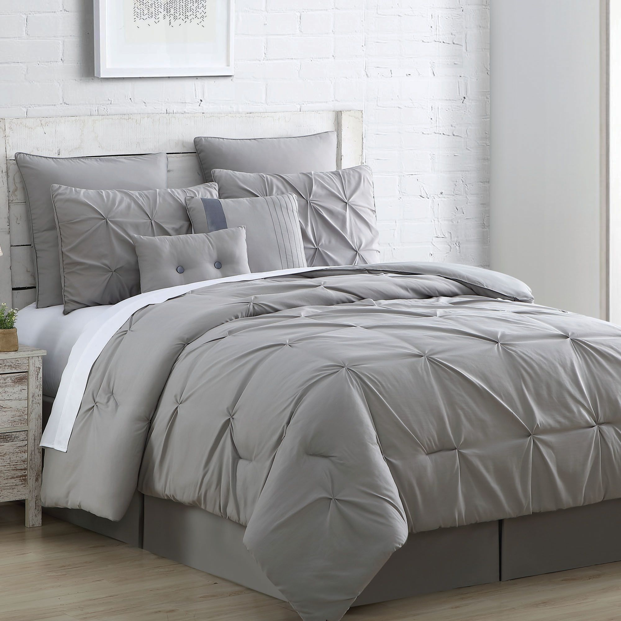 2 FACE 1 COMFORTER SOLID DOWN ALTERNATIVE COMFORTER 3PC SET IN MIX MATCH COLORS