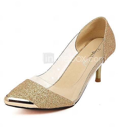 Zapatos dorados Tacón de aguja para mujer UVH2T9zi