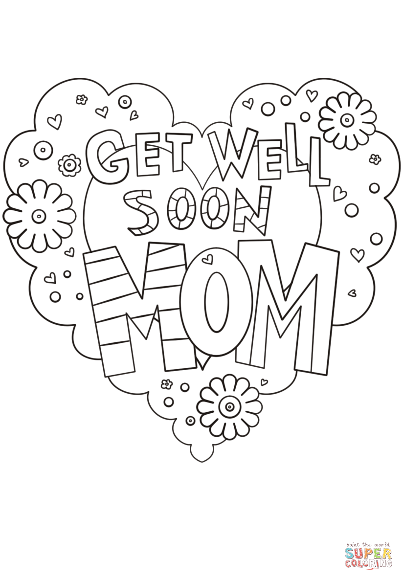 Get Well Soon Mom Coloring Page Free Printable Coloring Pages Mom Coloring Pages Coloring Pages Inspirational Free Printable Coloring Pages