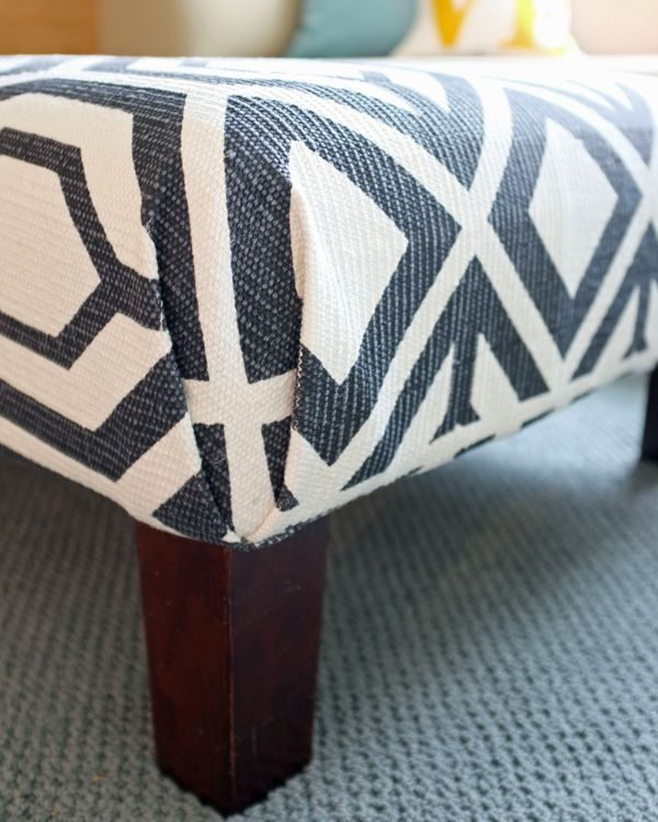 Diy Rug Ottoman Diy Rug Diy Ottoman Upholstery