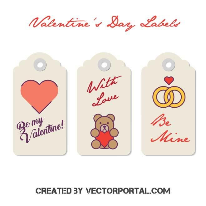 ValentineS Day Price Tag Labels Vector  Love Vectors