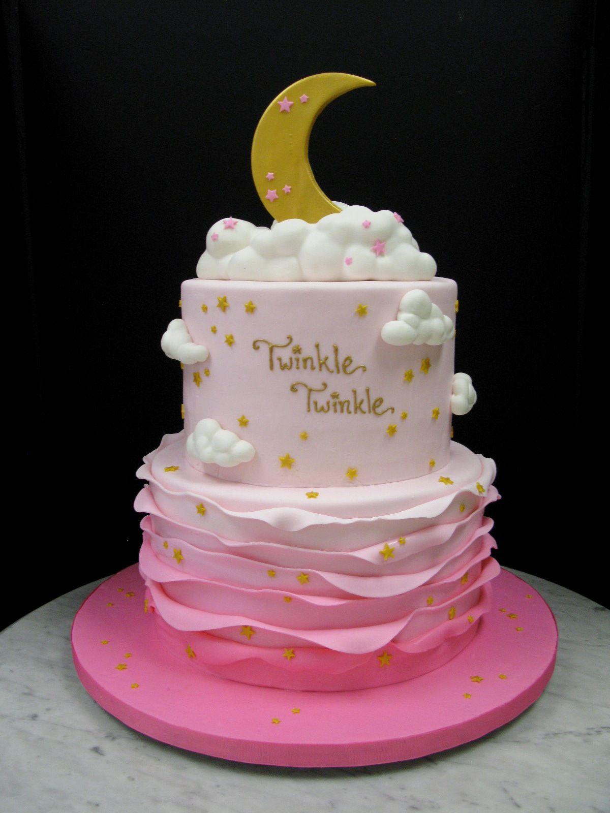 Twinkle Twinkle Little Star Baby Girl Cake
