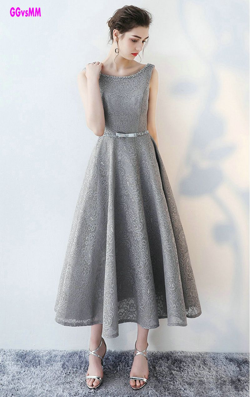 Click to buy ucuc fashion silver evening dresses new sexy scoop