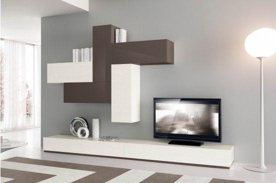 Risultati immagini per parete soggiorno moderna | Soggiorni ...