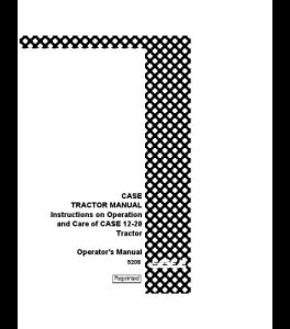Best case ih 12-20 tractor operators manual download