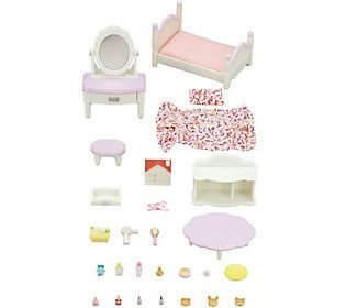 Calico Critters Bedroom /& Vanity Set Furniture Room Items Dollhouse Miniatures