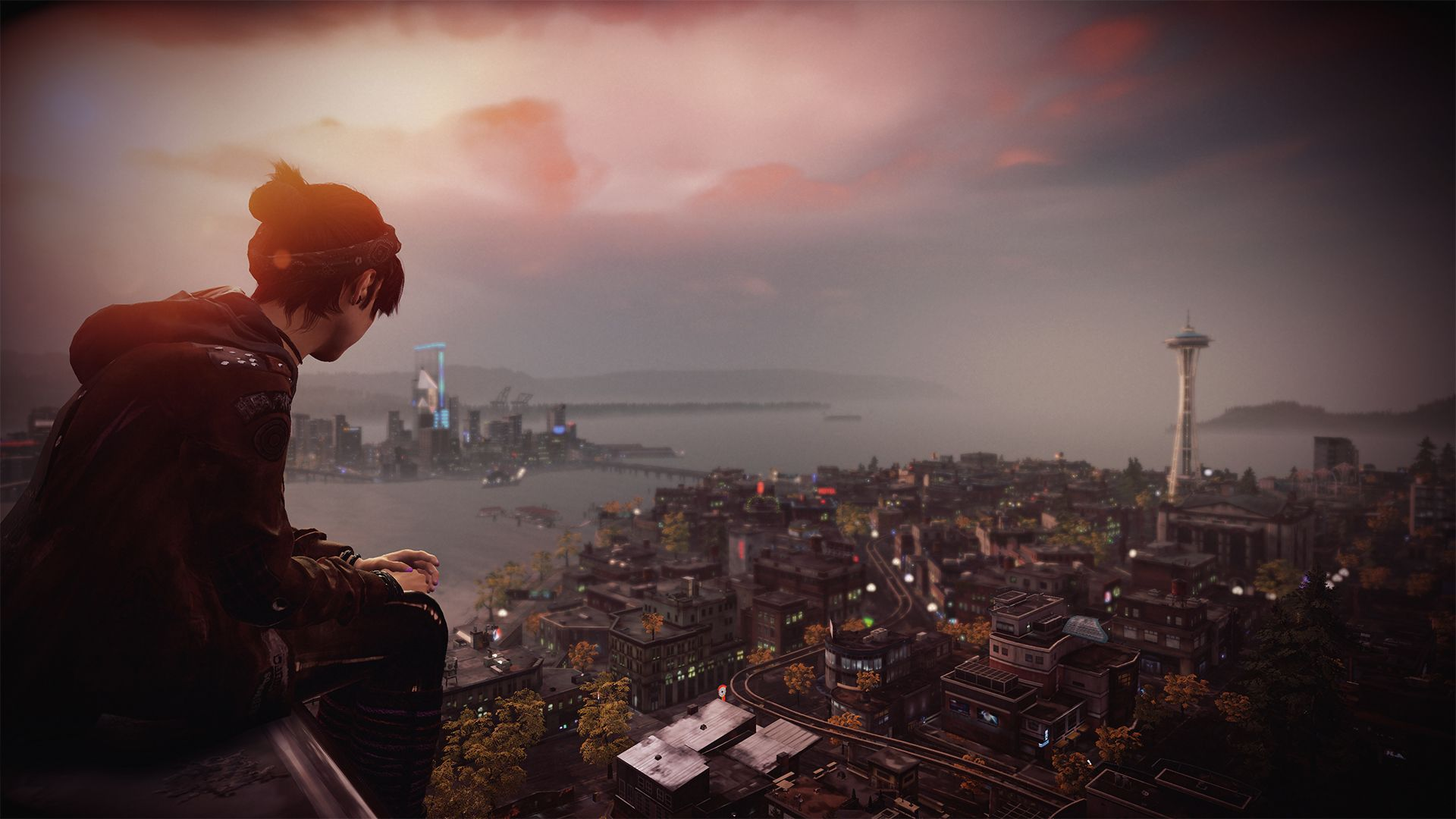 inFamous: First Light - Fetch watches over Seattle