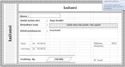 Yook Download Contoh Download Kwitansi Sederhana File Excel