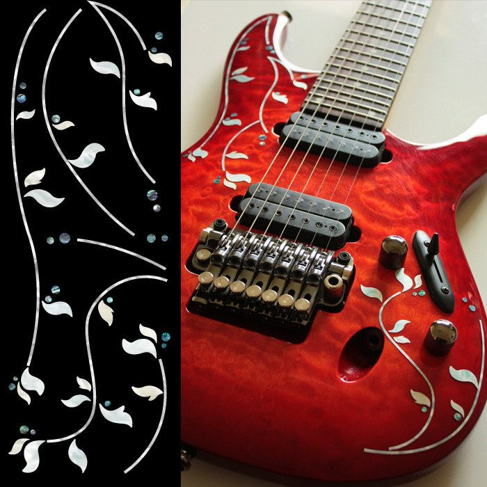 Custom Vinyl Stickers For Guitars Custom Vinyl Decals - Guitar custom vinyl stickers