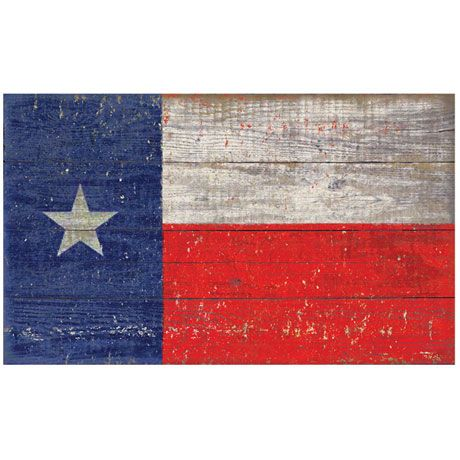 Wooden State Flag Sign Printed on Slatted Wood