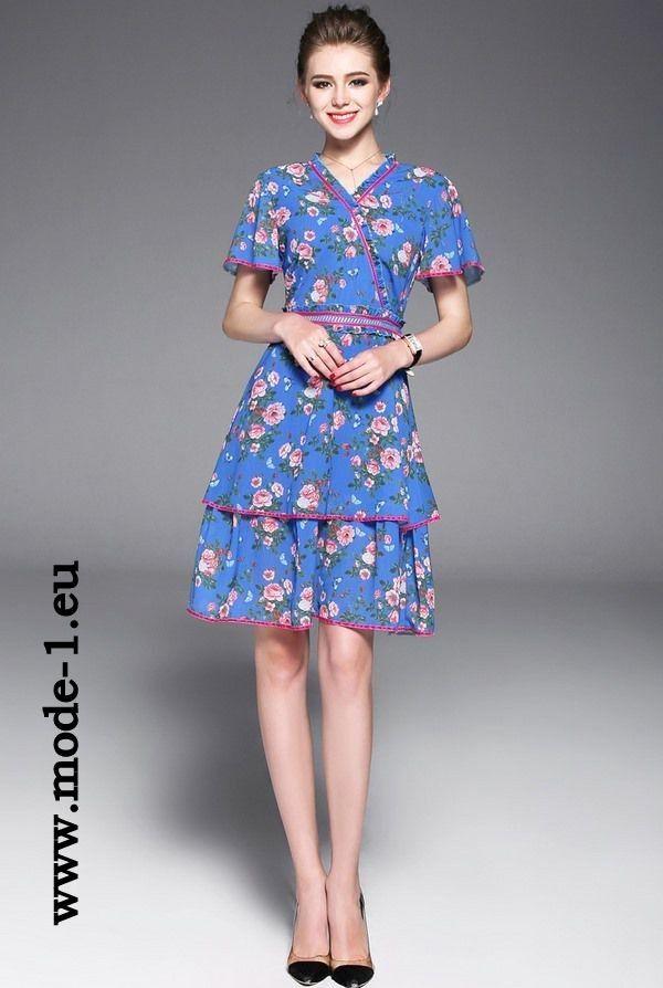 Midi Blumenkleid Sommerkleid Elegant   Blumenkleid ...