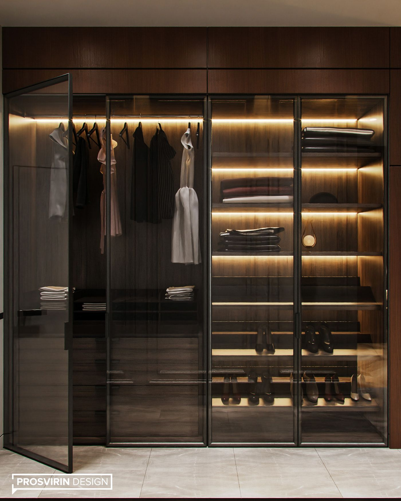 Prosvirin Design On Behance In 2020 Luxury Closets Design Dressing Room Design Luxurious Bedrooms