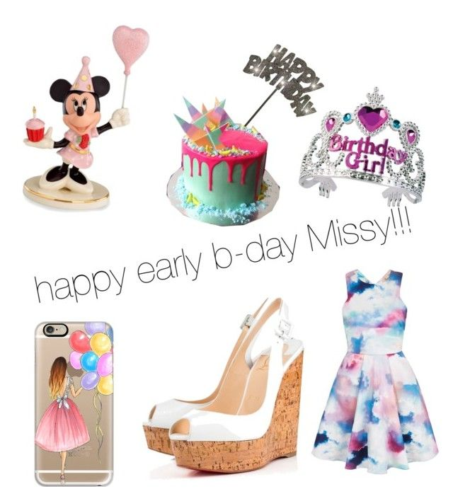"""""""b-day girl"""" by freenank ❤ liked on Polyvore featuring beauty, Lenox, Yumi, Christian Louboutin and Casetify"""