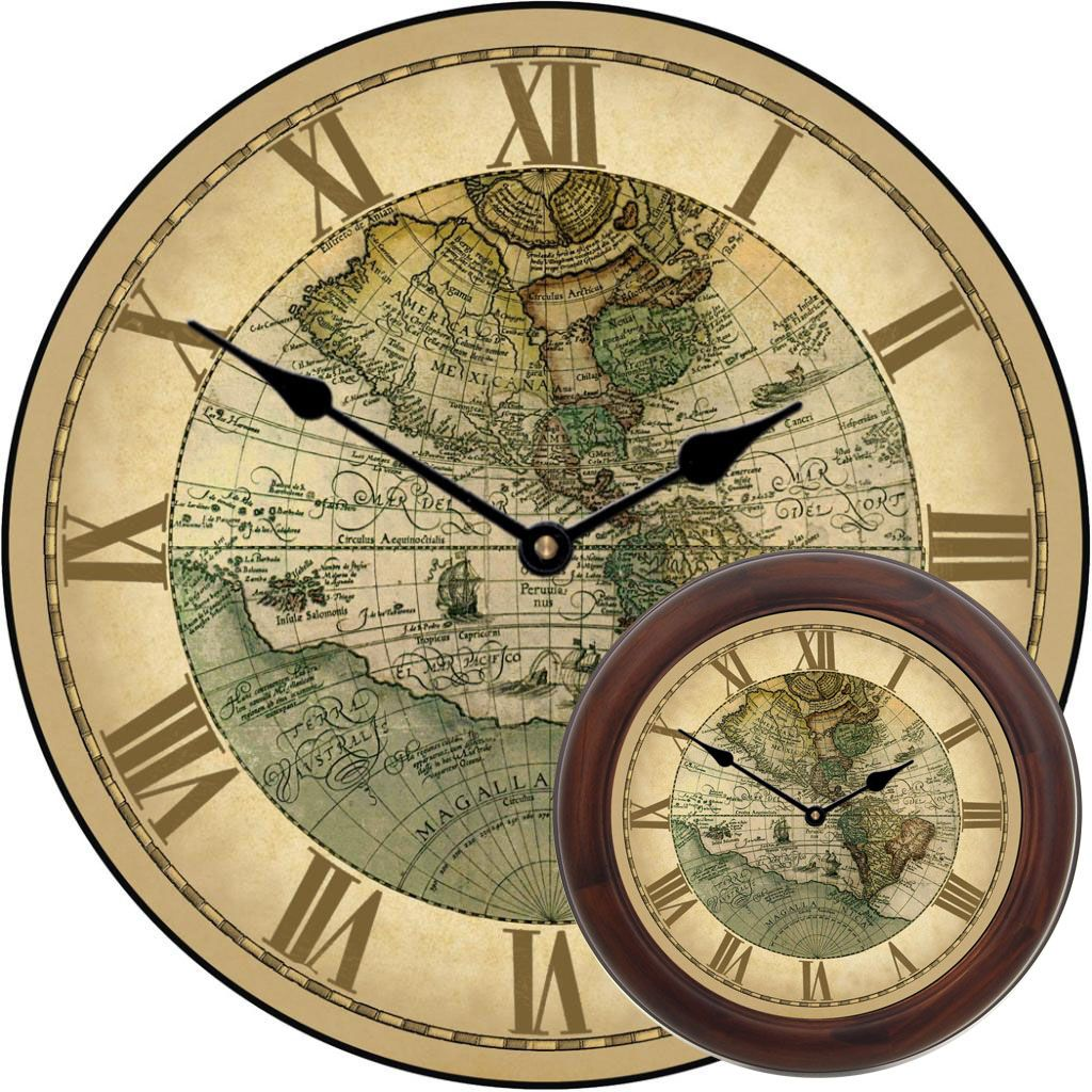 1596 world map clock mix clocks pinterest clocks 1596 world map clock gumiabroncs Image collections