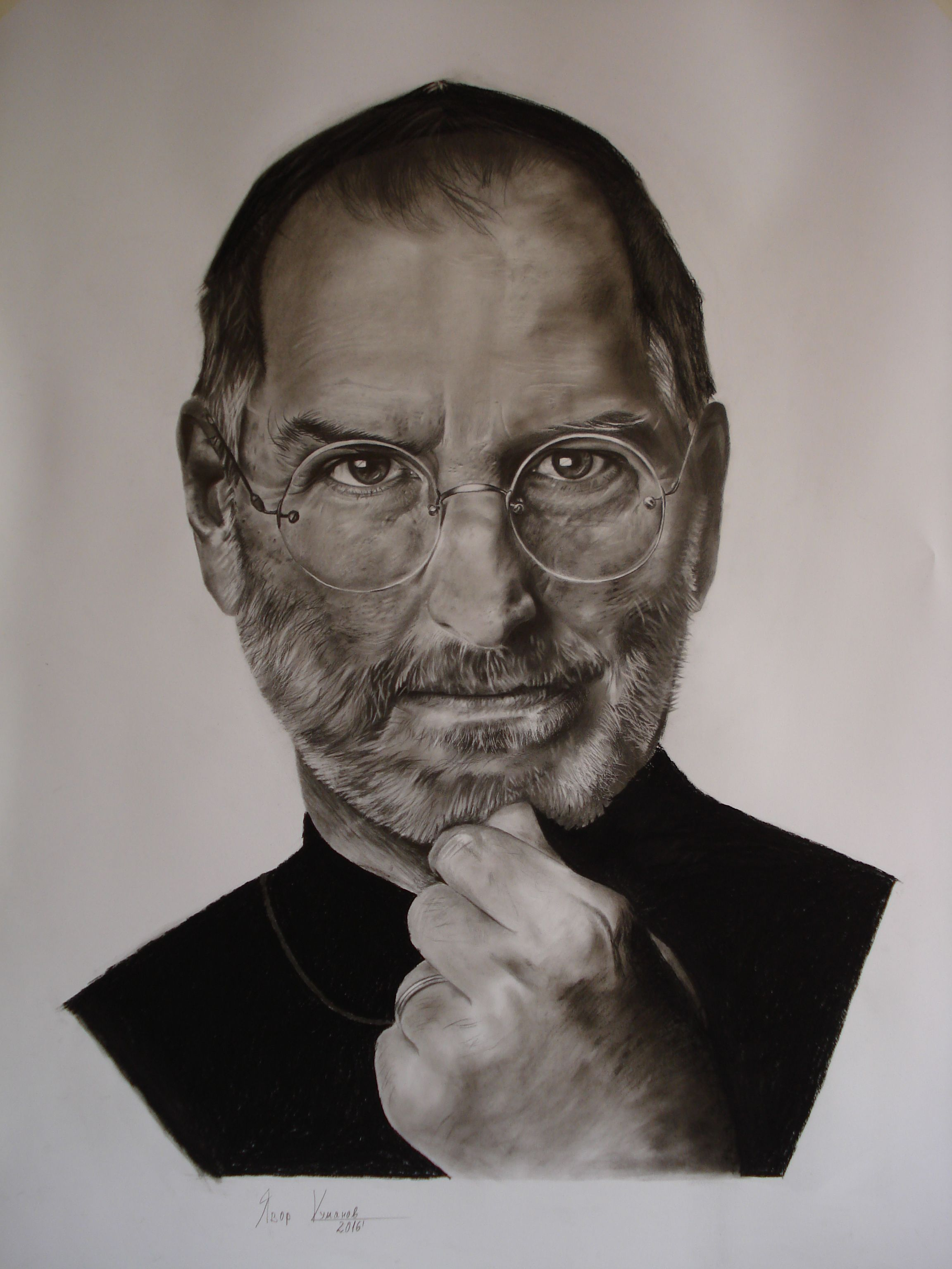 Pencil drawing of steve jobs