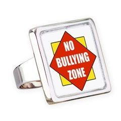 No Bullying Zone Square Ring