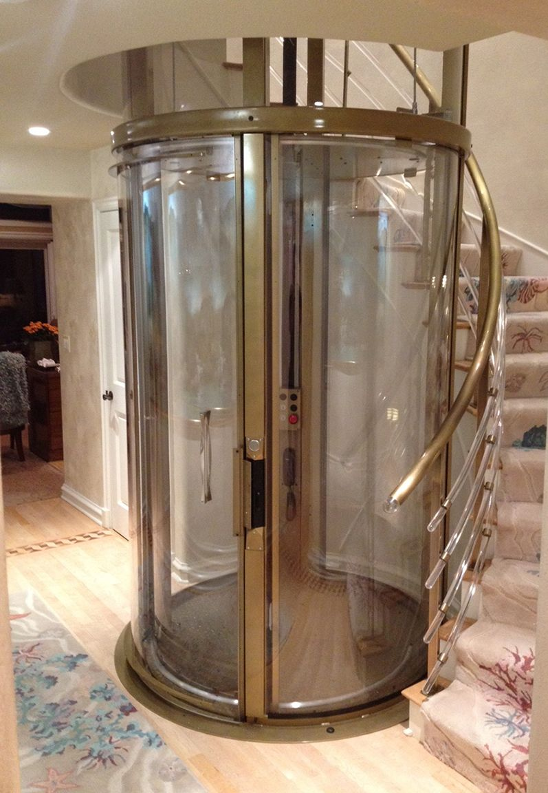 Home elevators prices - Visilift Round Home Elevator