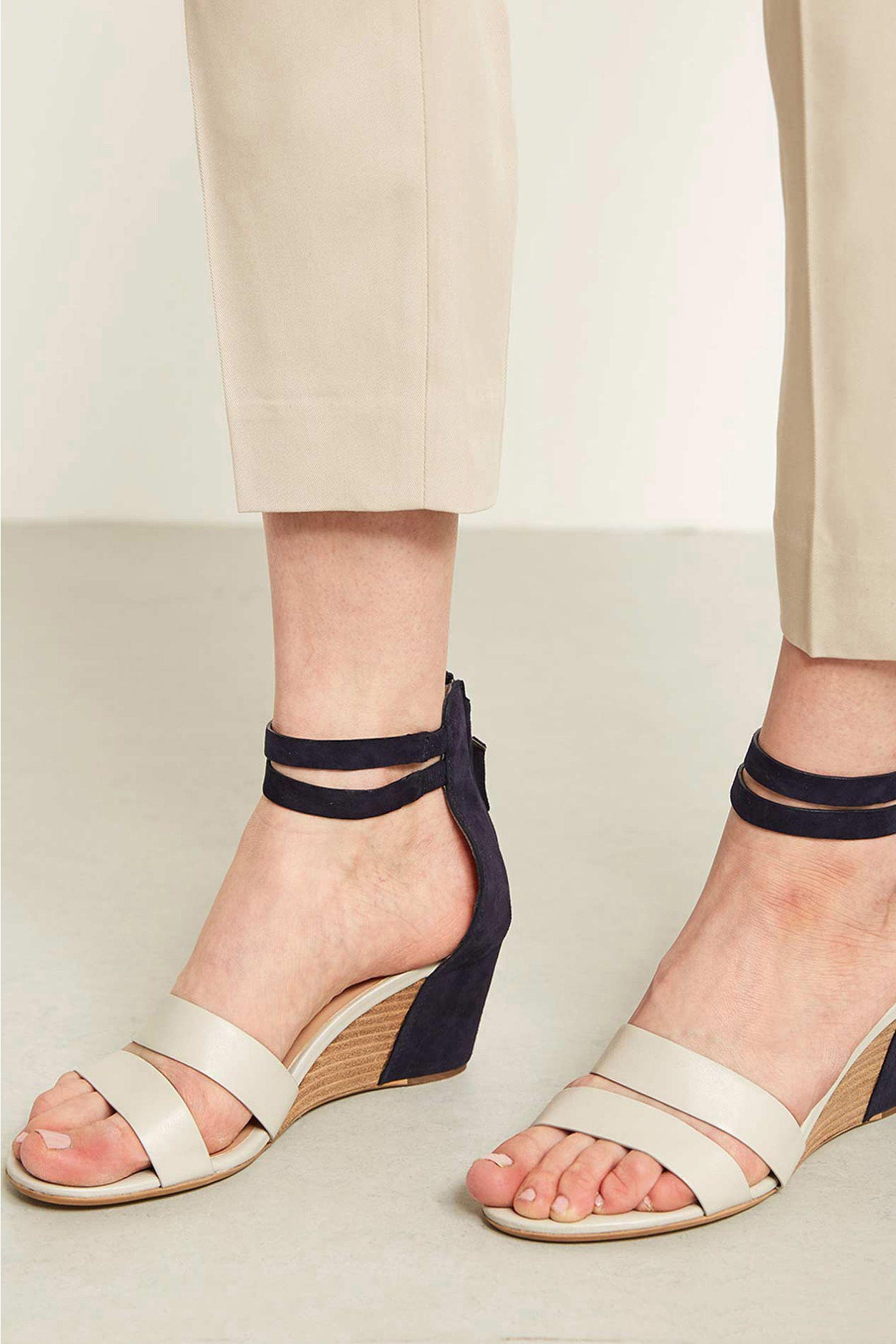 6b5681bc2c0 Womens Mint Velvet Iris Navy Stone Leather Sandal - Blue | Sandals ...