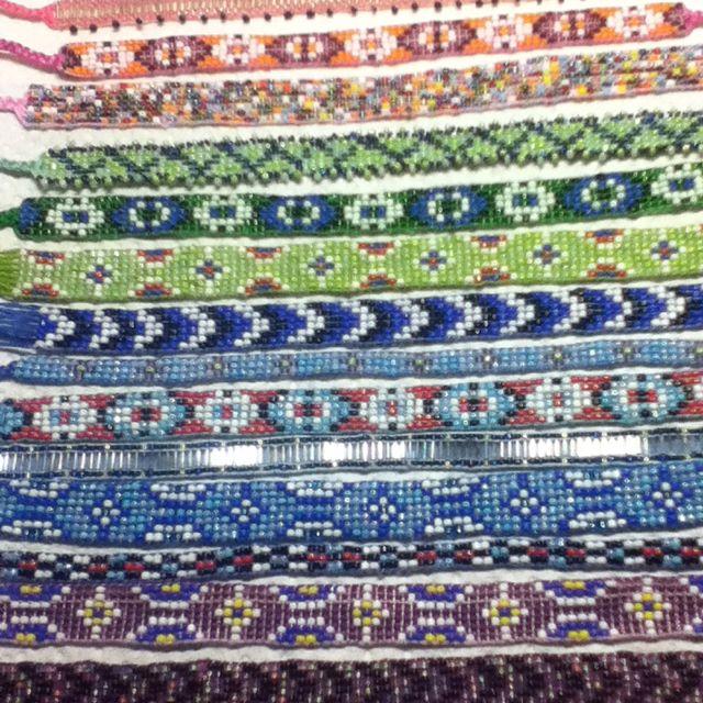 Hand Made Bead Loom Ankle Bracelets