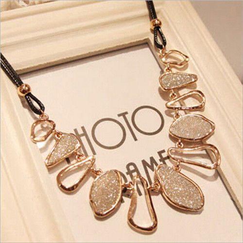 Women Fashion Chain Choker Bib Statement Charm Collar Pendant Necklace Jewelry…