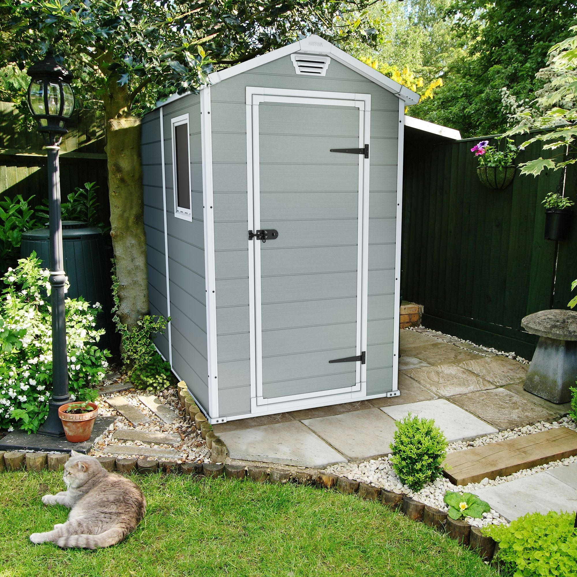 6x4 manor apex plastic shed garden ideas gardens and coops for Outdoor garden shed